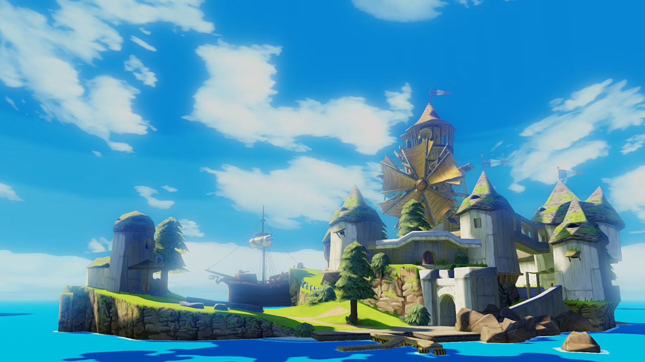 A screenshot from the Wii U remake of The Legend of Zelda: The Wind Waker