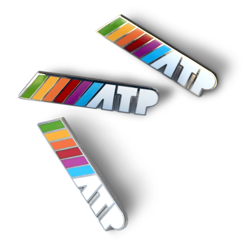 ///ATP Enamel Pin